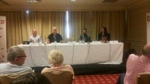Mean Streets and Small Towns Panel with Paul Finch, Ragnar Jonasson and SJI Holliday with Craig Robertson moderating.